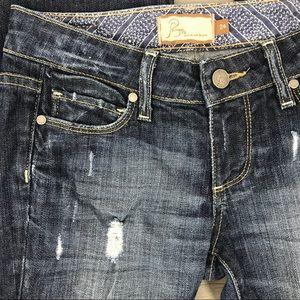Paige jeans laurel canyon distress size 24